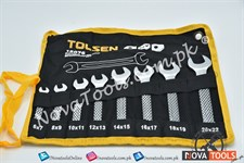TOLSEN Dbl Open Spanner Set 6-22mm (08ps)